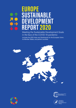 Europe Sustainable Development Report 2020 cover